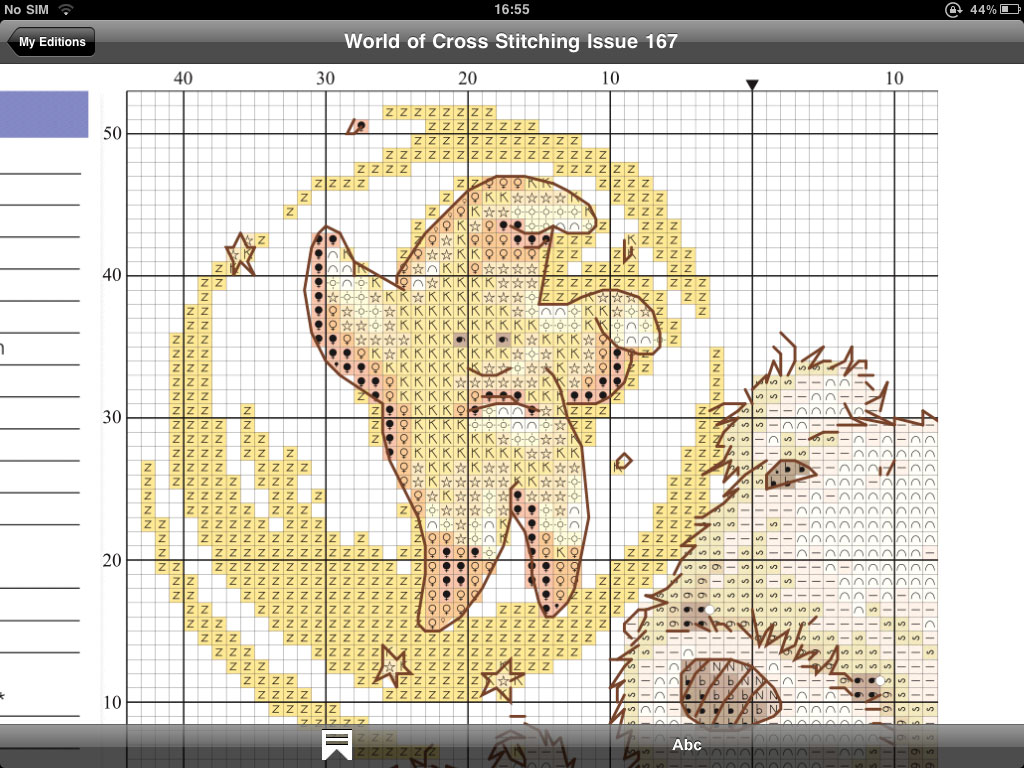 cross stitching patterns on the ipad it s the future